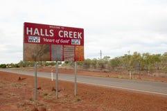 Halls Creek Sign - Australia Stock Image