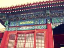 Halls de pavillons de palais d'été de Pékin Photographie stock
