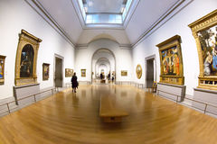 Halls in National Gallery of London Royalty Free Stock Photo