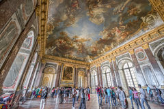 In the halls of Versailles. The luxury of Versailles halls. France royalty free stock photo