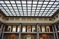 Hallschool, el pasillo de Van Maerlant Lyceum Imagen de archivo libre de regalías