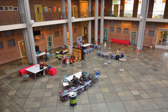 Hallschool, the hall of the Van Maerlant Lyceum Royalty Free Stock Photography