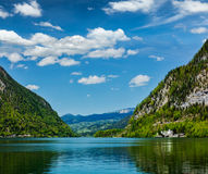 Hallstätter See mountain lake in Austria Royalty Free Stock Images