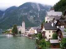 Hallstadt Áustria foto de stock royalty free