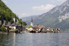 Hallstadt in Österreich stockfotos