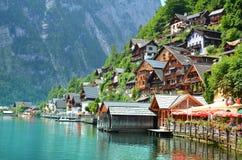 Hallstadt, Germany - July 24, 2014: Hallstatt village Austria Stock Photography