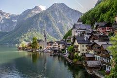 Hallstat村庄,奥地利 免版税库存照片