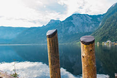 Hallstat Австрия Альпы Стоковое Изображение RF