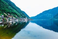 Hallstat Австрия Альпы Стоковые Изображения