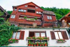Hallstat Австрия Альпы Стоковая Фотография