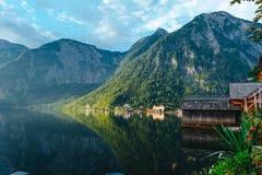 Hallstat Австрия Альпы Стоковые Фотографии RF
