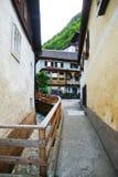 Hallstat - bello villaggio alpino di paradiso in Austria Fotografie Stock