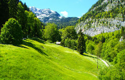 Hallstat - bello villaggio alpino di paradiso in Austria Fotografia Stock Libera da Diritti