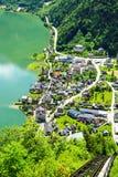 Hallstat - bello villaggio alpino di paradiso in Austria Immagine Stock Libera da Diritti