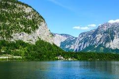 Hallstat - bello villaggio alpino di paradiso in Austria Fotografia Stock