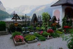 Hallstatt奥地利教会 库存照片
