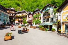 Hallstatt老镇,奥地利 免版税图库摄影