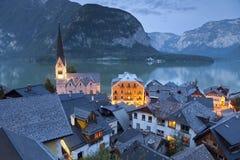 Hallstatt,奥地利。 库存图片
