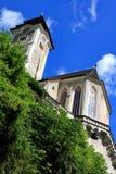 Hallstatt,奥地利- 2017年6月30日:教会在Hallstatt 库存图片