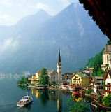 Hallstatt, Áustria fotos de stock royalty free