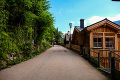 Hallstatt Áustria/vila Imagens de Stock Royalty Free