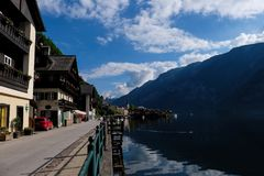 Hallstatt Áustria/vila Fotografia de Stock Royalty Free