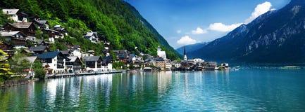 Hallstatt Österreich lizenzfreie stockfotos