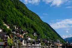 Hallstatt Österreich/Dorf Stockfotos