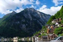Hallstatt Österreich/Dorf Lizenzfreies Stockbild