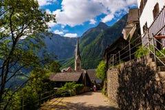 Hallstatt Österreich/Dorf Stockbild
