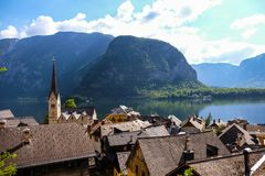 Hallstatt Österreich/Dorf Lizenzfreie Stockfotografie