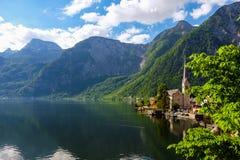 Hallstatt Österrike/by Royaltyfri Bild