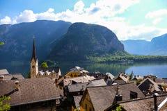 Hallstatt Österrike/by Royaltyfri Fotografi