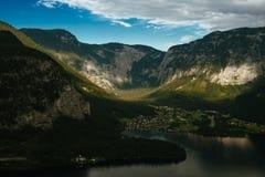 Hallstatt на озере в лете Стоковые Фото