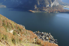 Hallstatt aereal view. Hallstatt, Austria aereal view from the mountain Royalty Free Stock Photography