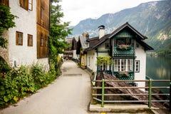 Hallstatt. Austria. Buildings and streets. Hallstatt. Austria Royalty Free Stock Photos