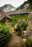 Hallstatt. Austria. Buildings and streets. Hallstatt. Austria Royalty Free Stock Images