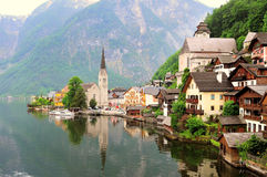 Hallstatt, Austria. Famous view of Hallstatt, Austria Royalty Free Stock Photo