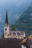 Hallstatt Austria iconic town Royalty Free Stock Images