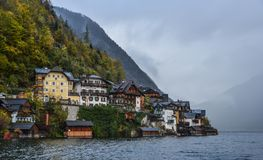 Austrian tourist destination - Hallstatt village stock photography