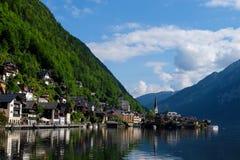 Hallstatt Austria/pueblo Fotografía de archivo libre de regalías