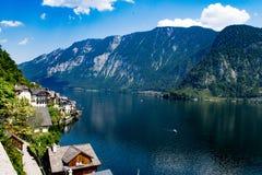 Hallstatt Austria settentrionale fotografie stock