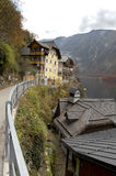 Hallstatt, Austria. View from inside the village Stock Photography