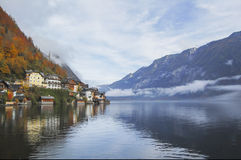 Hallstatt, Austria. View from the lake Stock Images