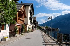 Hallstatt Austria/villaggio Immagini Stock Libere da Diritti