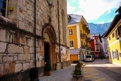 Hallstatt Austria/villaggio Fotografie Stock