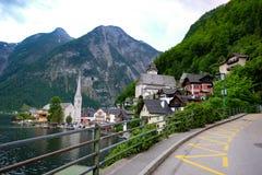 Hallstatt Austria, wioska/ Zdjęcie Stock
