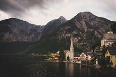 Hallstatt Austria, wioska/ Zdjęcie Royalty Free