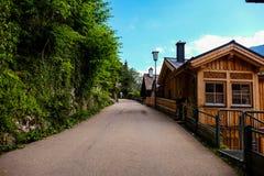 Hallstatt Austria, wioska/ Obrazy Royalty Free