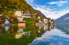 Hallstatt at autumn Stock Photos